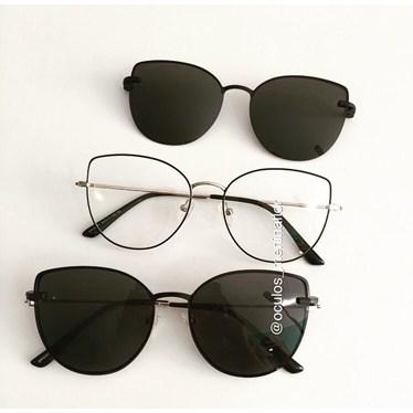 Armação de óculos de grau - Aurora Two - Preto com dourado