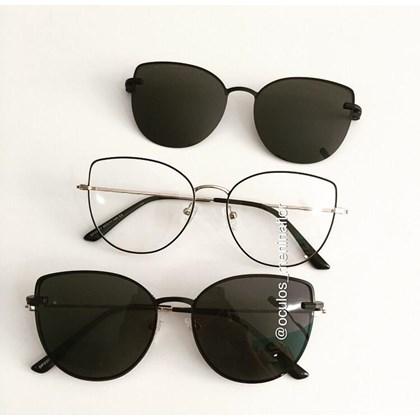 Armação de óculos de grau - Aurora Two - Preto com dourado C2