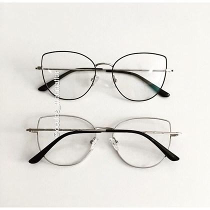 Armação de óculos de grau - Aurora Two - Preto com prata C3