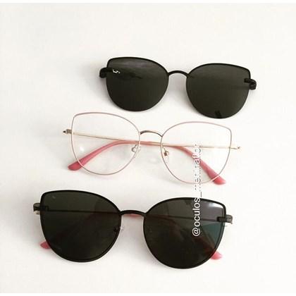 Armação de óculos de grau - Aurora Two - Rose com dourado