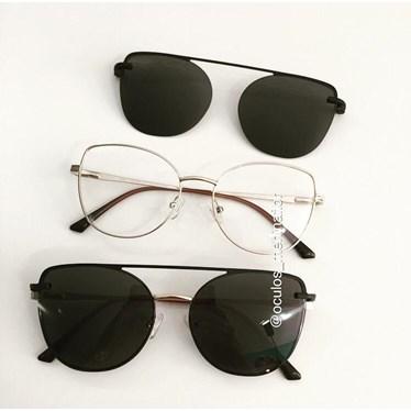 Armação de óculos de grau - Aurora versão 2.0 - Dourado lente preta
