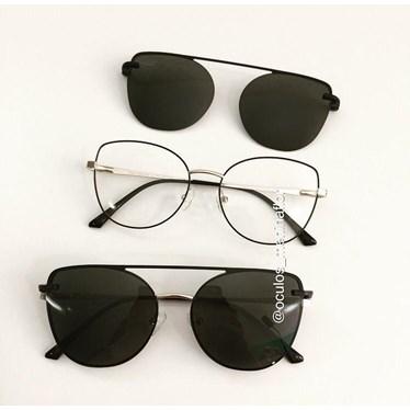 Armação de óculos de grau - Aurora versão 2.0 - Preto com dourado