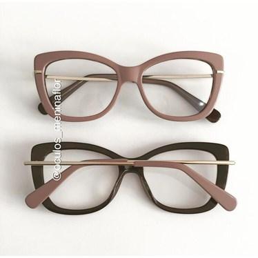 Armação de óculos de grau - B545 - Nude chocolate