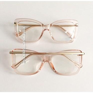 Armação de óculos de grau - B545 - Rose transparência