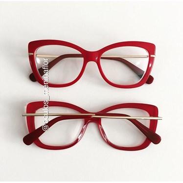 Armação de óculos de grau - B545 - Vermelho
