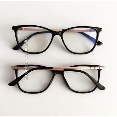 Armação de óculos de grau - Bari - Preto