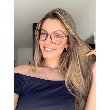 Armação de óculos de grau - Basiquinha - Cinza