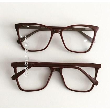 Armação de óculos de grau - Basiquinha - Vinho