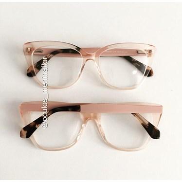 Armação de óculos de grau - BB2026 - Rose transparência