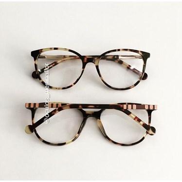 Armação de óculos de grau - Bee 10069 - Animal print