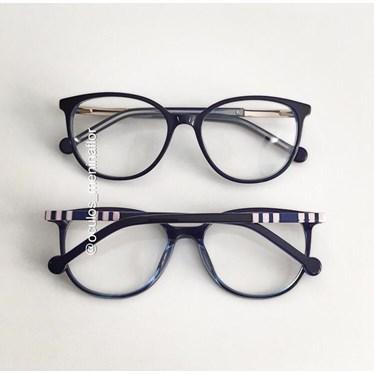 Armação de óculos de grau - Bee 10069 - Azul C7