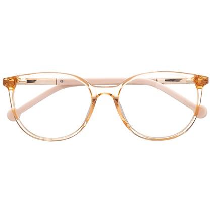 Armação de óculos de grau - Bee 10069 - Dourado transparente com haste marrom C5