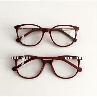 Armação de óculos de grau - Bee 10069 - Vinho