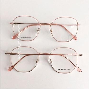 Armação de óculos de grau - Bela - rose com dourado