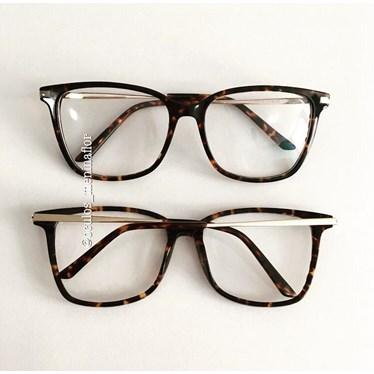 Armação de óculos de grau - Belli Quadradinha - Animal print