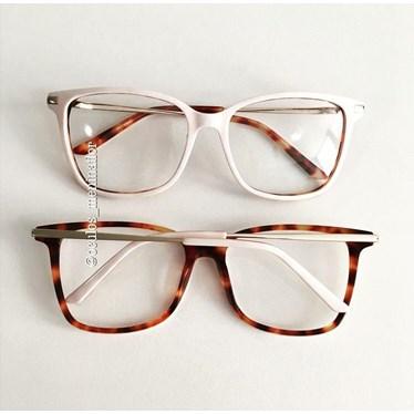 Armação de óculos de grau - Belli Quadradinha - Rose Claro