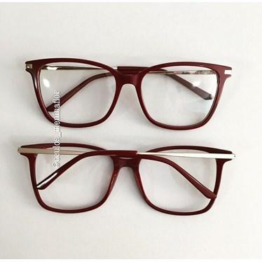 Armação de óculos de grau - Belli Quadradinha - Vinho