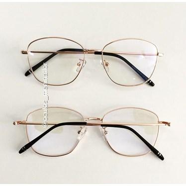 Armação de óculos de grau - Bibiana - Rose Gold