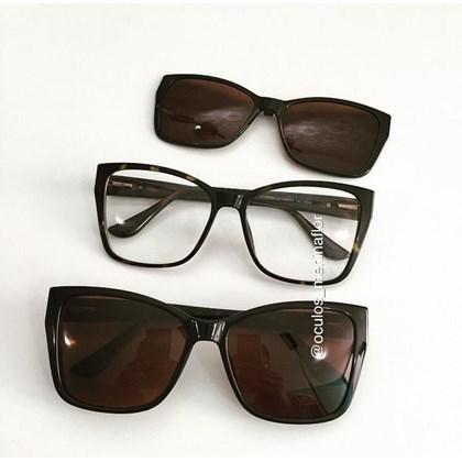 Armação de óculos de grau - Cady 8029 - Animal print lente marrom C2