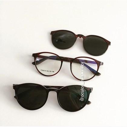Armação de óculos de grau - Califórnia 8218 - Marrom C7