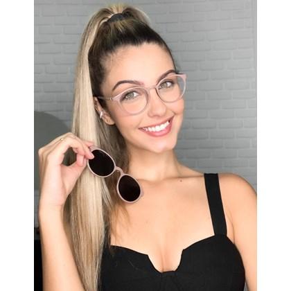 Armação de óculos de grau - Califórnia 8218 - Nude Chocolate