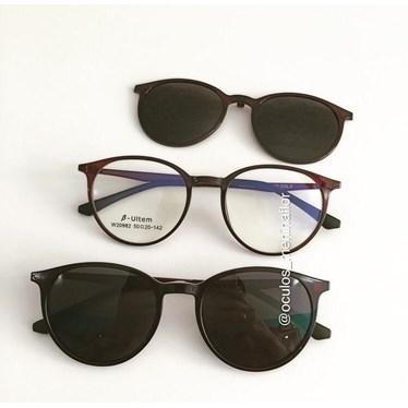 Armação de óculos de grau - Califórnia 982 - Marrom