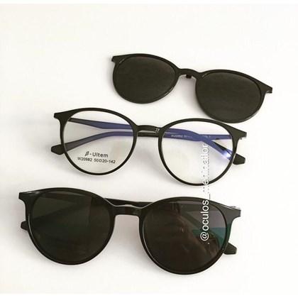 Armação de óculos de grau - Califórnia 982 - Preto