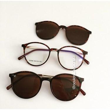 Armação de óculos de grau - Califórnia haste metal - Animal Print