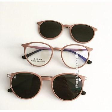 Armação de óculos de grau - Califórnia - Nude Chocolate
