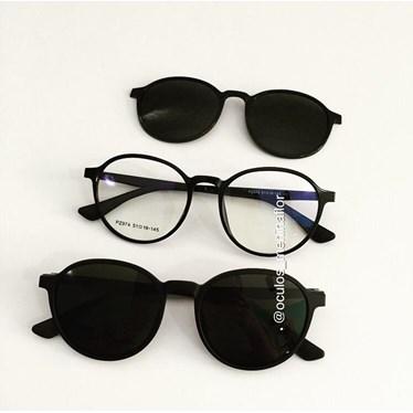 Armação de óculos de grau - Califórnia Two - Preto
