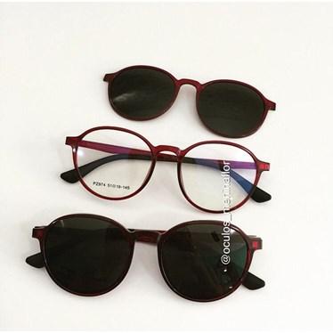 Armação de óculos de grau - Califórnia Two - Vinho