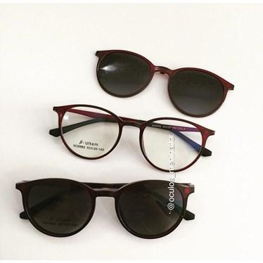 Armação de óculos de grau - Califórnia - Vinho