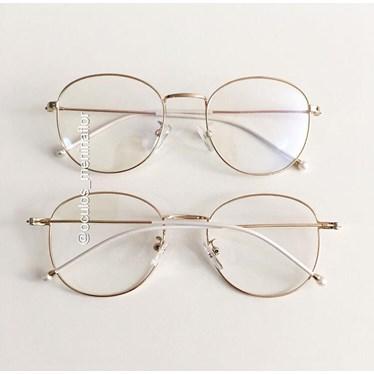 Armação de óculos de grau - Candy Pérola - Dourado