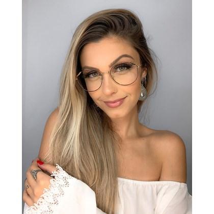 Armação de óculos de grau - Carol 9716 - Preto com dourado