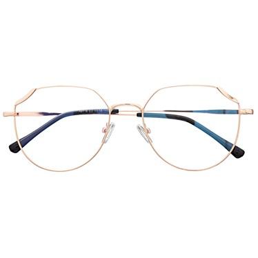 Armação de óculos de grau - Carol 9716 - Rose Gold