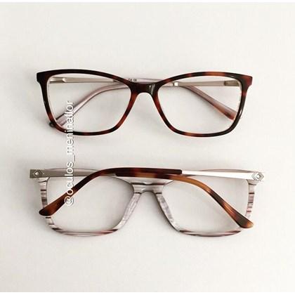 Armação de óculos de grau - Cássia - Animal print