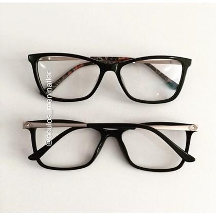 Armação de óculos de grau - Cássia - Preto