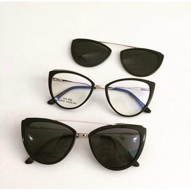 Armação de óculos de grau - Catarina 25031 - Preto C1