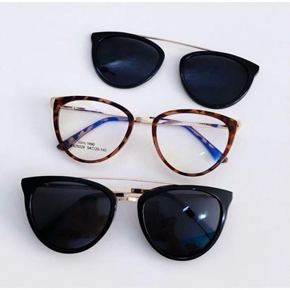 Armação de óculos de grau - Cathe 25026 - Animal print lente preta c2