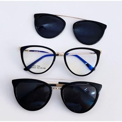 Armação de óculos de grau - Cathe 25026 - Preto C1