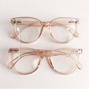 Armação de óculos de grau - Celina - Dourado transparente