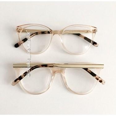 Armação de óculos de grau - Celina two - Dourado transparente
