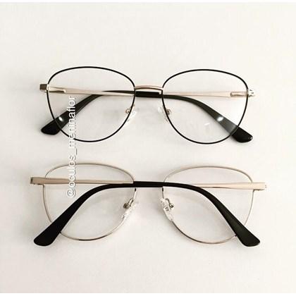 Armação de óculos de grau - Charlote 2.0 - Preto com dourado