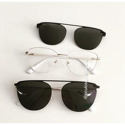 Armação de óculos de grau - Charlotte 88007 - Branco com dourado