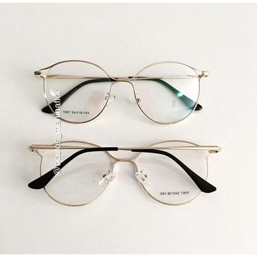 Armação de óculos de grau - Deusiane - Dourada