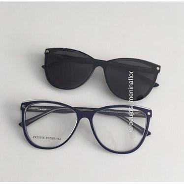Armação de óculos de grau - Dona de Mim 25013 - Azul