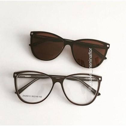 Armação de óculos de grau - Dona de Mim 25013 - Marrom lente marrom
