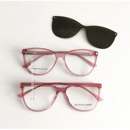 Armação de óculos de grau - Dona de Mim 25013 - Rose transparência