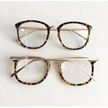 Armação de óculos de grau - DR quadrada - Animal print