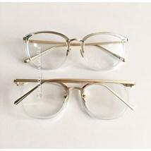 Armação de óculos de grau - DR quadrada - Azul transparência